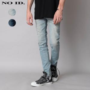 NO ID. ノーアイディ メンズ ストレッチデニム ユーズド加工 スキニーパンツ|gios-shop