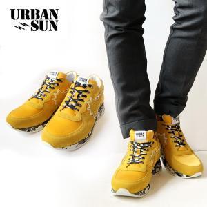 URBAN SUN アーバンサン スニーカー andre062 アンドレ 国内正規品 イエロー 迷彩 メンズ|gios-shop