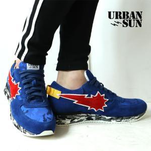 URBAN SUN アーバンサン スニーカー andre129 アンドレ 日本限定モデル 国内正規品 青 赤 迷彩 メンズ|gios-shop