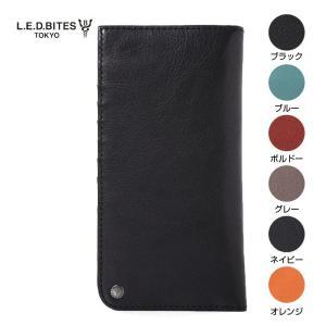 LED BITES エルイーディーバイツ ブランド 二つ折り 長財布 カウアッシュ 牛革 メンズ レディース|gios-shop
