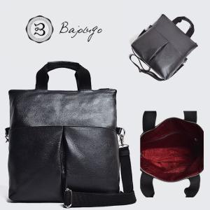 BajoLugo バジョルゴ 3WAY クラッチトート シボ ブラック バッグ 鞄 gios-shop