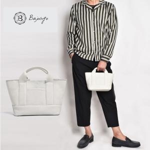 【11月下旬入荷予定】 BajoLugo バジョルゴ チビトート シボ ホワイト バッグ 鞄|gios-shop