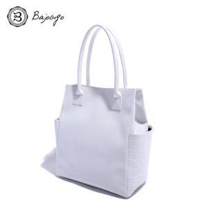BajoLugo バジョルゴ トート バッグ ミニ クロコダイル ホワイト メンズ|gios-shop