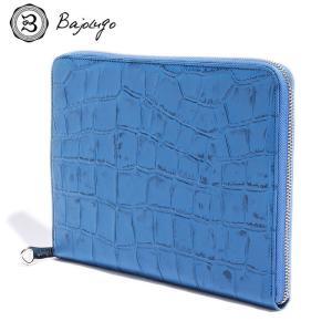 BajoLugo バジョルゴ 財布 ウォレット クラッチ バッグ 鞄 カバン クロコ メンズ レディース ブルー gios-shop