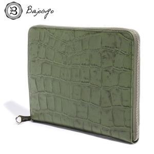 BajoLugo バジョルゴ 財布 ウォレット クラッチ バッグ 鞄 カバン クロコ メンズ レディース カーキ gios-shop