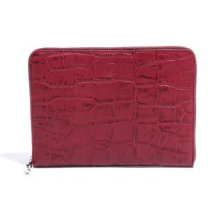 BajoLugo バジョルゴ 財布 ウォレット クラッチ バッグ 鞄 カバン クロコダイル メンズ ワイン|gios-shop|02