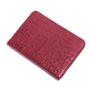 BajoLugo バジョルゴ 財布 ウォレット クラッチ バッグ 鞄 カバン クロコダイル メンズ ワイン|gios-shop|03