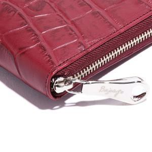 BajoLugo バジョルゴ 財布 ウォレット クラッチ バッグ 鞄 カバン クロコダイル メンズ ワイン|gios-shop|05