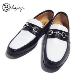BajoLugo バジョルゴ ローファー デッキ ドライビング スムース レザー ブラック ホワイト メンズ|gios-shop