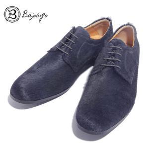 BajoLugo バジョルゴ プレーントゥ シューズ スニーカー カウヘアー ダーク グレー メンズ|gios-shop