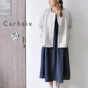 Carhaix キャレ 接結 ノーカラー キルティングジャケット|gios-shop