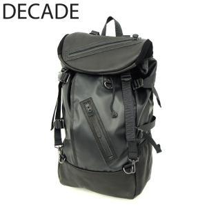 DECADE ディケイド バックパック 本革 レザー バッグ カバン 鞄 リュック ブラック 黒 メンズ|gios-shop