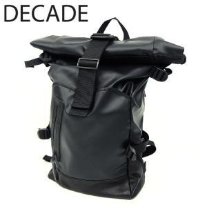 DECADE ディケイド バックパック 本革 レザー バッグ カバン 鞄 リュック ナイロン ブラック 黒 メンズ|gios-shop