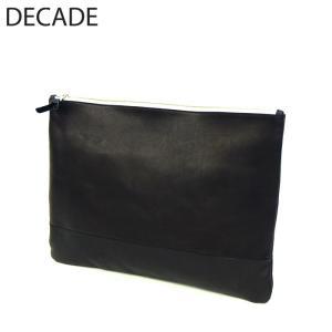 DECADE ディケイド クラッチ バッグ 本革 レザー バッグ カバン 鞄 ジャガード 迷彩 カモ カモフラージュ ブラック 黒 メンズ レディース ユニセックス|gios-shop