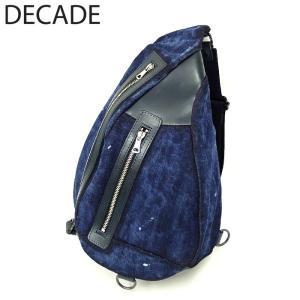 DECADE ディケイド ボディーバッグ バッグ カバン 鞄 本革 レザー ウエストポーチ デニム ネイビー ブラック 黒 メンズ|gios-shop