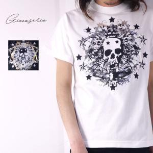 Gioco serio スカル フォイル 半袖 Tシャツ XS S M L LL 3L 4L メンズ|gios-shop