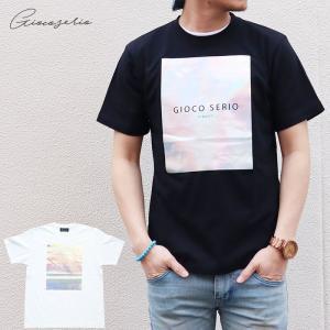 Gioco serio ジョーコセーリオ ボックスロゴ プリント 半袖 Tシャツ S M L LL メンズ|gios-shop