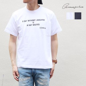 1000円ポッキリ Gioco serio ジョーコセーリオ PROVERB プリント 半袖 Tシャツ S M L LL メンズ レディース|gios-shop