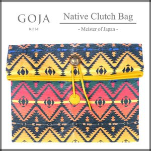 GOJA ゴジャ クラッチバッグ CLUTCH BAG 和紙 Native ネイティブ|gios-shop
