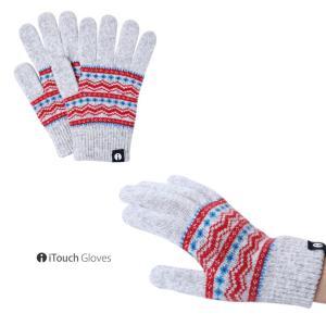 iTouch Gloves アイタッチグローブ PATTERN チロルクリーム タッチパネル対応 ニット 手袋 S レディース|gios-shop