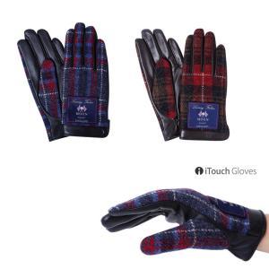 iTouch Gloves アイタッチグローブ MOON イギリス タッチパネル対応 レザー 手袋 S レディース|gios-shop