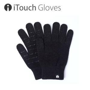 iTouch Gloves アイタッチグローブ SOLID BLACK ANTI-SLIP タッチパネル対応 ニット 手袋 S レディース|gios-shop