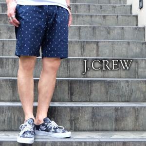 J.CREW Jクルー ジェイクルー ショーツ ショートパンツ アンカー 碇 ネイビー メンズ|gios-shop