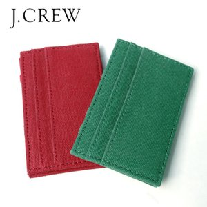J.CREW Jクルー カードケース パスケース 定期入 Pass Card Case 2COLOR|gios-shop