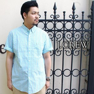 J.CREW ジェイクルー シャツ 半袖シャツ チェックシャツ ギンガムチェック ボタンダウン メンズ|gios-shop