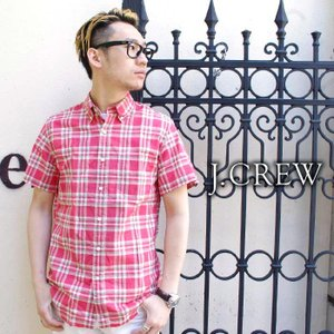 J.CREW Jクルー ジェイクルー シャツ 半袖シャツ CHECK チェックシャツ ボタンダウン メンズ|gios-shop