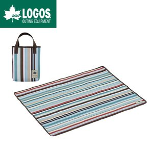 LOGOS ロゴス アウトドア ヨガマットとしても使える防水シート オックス防水シート・ソロ(ブルーストライプ) gios-shop