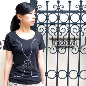 nooa ヌーア レディース アメカジ t-canvas 半袖 Tシャツ ブラック Kiss(White) キス nooa-ldt-0090blk gios-shop
