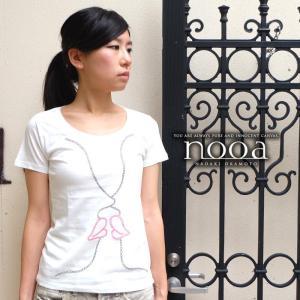 nooa ヌーア レディース アメカジ t-canvas 半袖 Tシャツ ホワイト Kiss(White) キス nooa-ldt-0090wht gios-shop