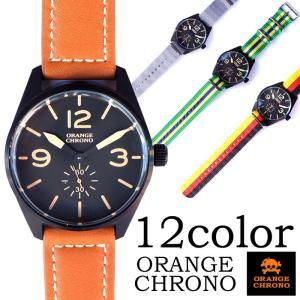 ORANGE CHRONO オレンジクロノ 時計 ウォッチ メンズ レディース レザー メッシュ バンド ブラック etenoir エテノワール|gios-shop
