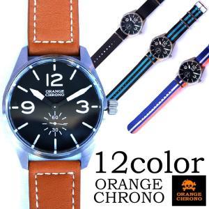 ORANGE CHRONO オレンジクロノ 時計 ウォッチ メンズ レディース レザー メッシュ バンド シルバー etenoir エテノワール|gios-shop