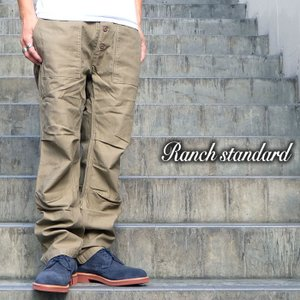 Ranch Standard ランチ スタンダード ワーク ファティーグ ベイカー ミリタリー パンツ メンズ ベージュ カーキ gios-shop
