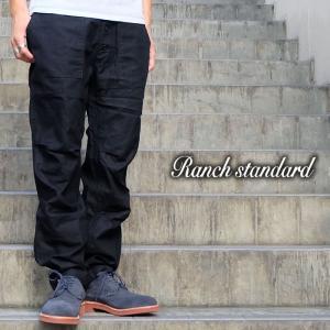 Ranch Standard ランチ スタンダード ワーク ファティーグ ベイカー ミリタリー パンツ メンズ ブラック gios-shop