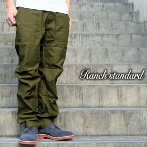 Ranch Standard ランチ スタンダード ワーク ファティーグ ベイカー ミリタリー パンツ メンズ オリーブ gios-shop