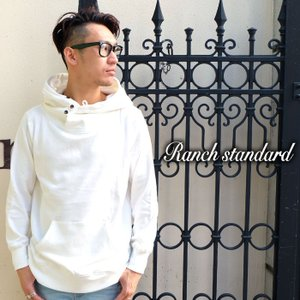 Ranch Standard ランチ スタンダード パーカー 長袖 無地 スウェット メンズ ホワイト gios-shop