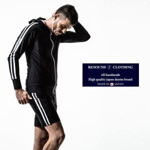 RESOUND CLOTHING リサウンドクロージング ラッシュガード ライン セットアップ メンズ 黒|gios-shop