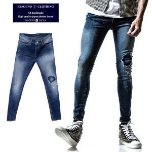 RESOUND CLOTHING リサウンドクロージング スーパースキニー デニム RC11 LOAD DENIM IND B メンズ|gios-shop
