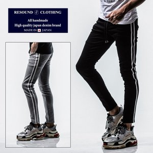 RESOUND CLOTHING リサウンドクロージング Blind LINE PT スーパータイト テーパード パンツ メンズ ラインパンツ|gios-shop