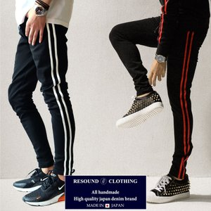 RESOUND CLOTHING リサウンドクロージング Blind LINE PT BLACK  ニューシルエット BLIND スーパータイト テーパードパンツ メンズ|gios-shop