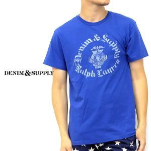 デニム&サプライ Tシャツ 半袖T ブルー 青 メンズ|gios-shop