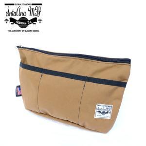 Santa Ana MFG サンタアナマニュファクチャリング カバン 鞄 バッグ ショルダー クラッチ セカンド メンズ コヨーテ ベージュ|gios-shop