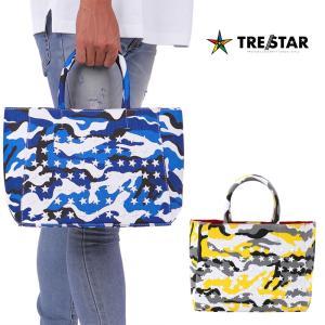 TRE☆STAR トレスター TRESTAR キャンバス トートバッグ カモ Sサイズ 鞄 トート バッグ スター スタッズ 星 メンズ レディース 青 黄色 迷彩|gios-shop