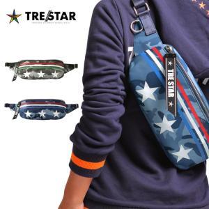 TRESTAR トレスター ワンスター ボディバッグ ONE STAR BODY BAG メンズ レディース ブルー グレー カモフラ|gios-shop