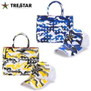 TRE☆STAR トレスター TRESTAR カモ トートバッグ Sサイズ キャップ セット 鞄 帽子 トート バッグ スター スタッズ 星 メンズ レディース 青 黄色 迷彩|gios-shop