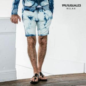 1PIU1UGUALE3 RELAX ウノピゥウノウグァーレトレ リラックス タイダイブリーチ ショートパンツ|gios-shop