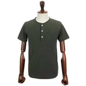 Cento Per Cento(チェントぺルチェント) ヘンリーネック Tシャツ【カーキ】 giottostile